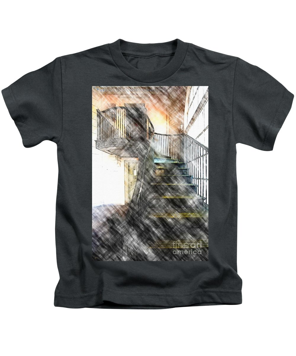 Stairway Kids T-Shirt featuring the photograph Stairway by Liane Wright