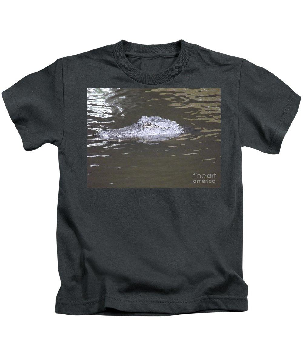 Alligator Kids T-Shirt featuring the photograph Stalker by Jennifer Lavigne