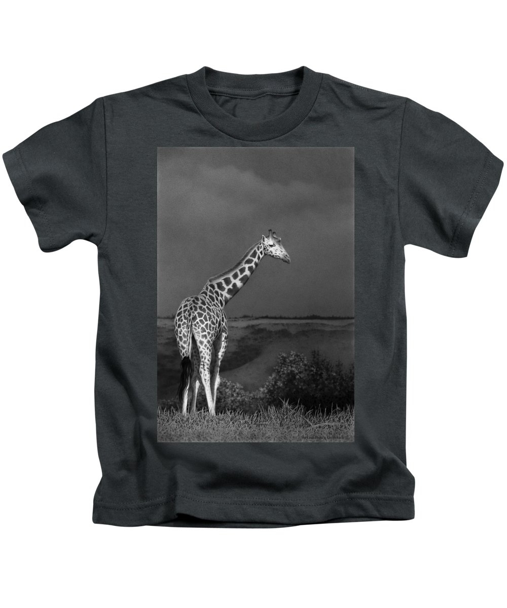 Africa Kids T-Shirt featuring the drawing Standing Tall by Stirring Images