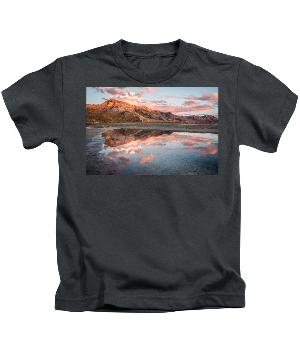 Gigimarie Kids T-Shirt featuring the photograph Stansbury Reflections by Gina Herbert