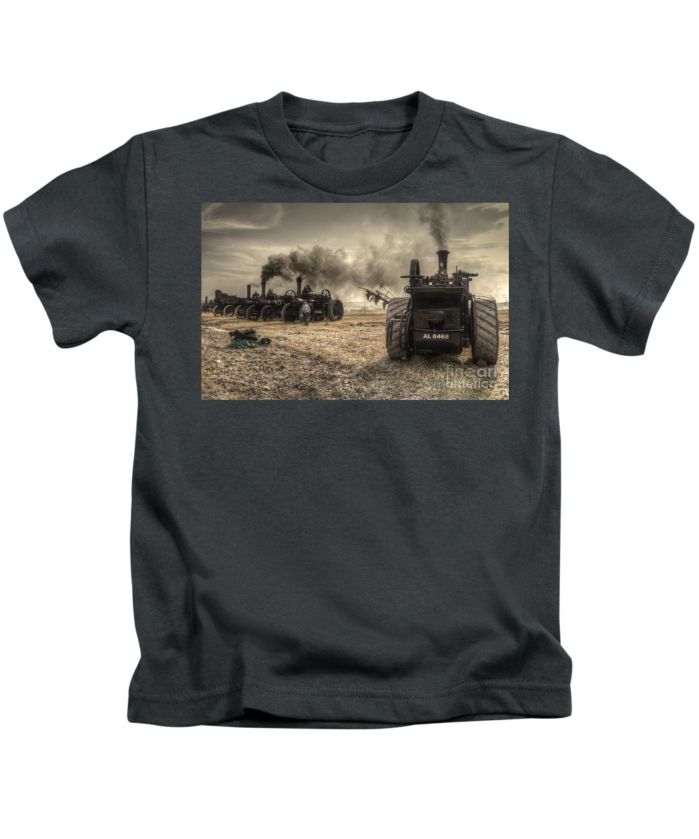 Steam Kids T-Shirt featuring the photograph Steaming Giants by Rob Hawkins