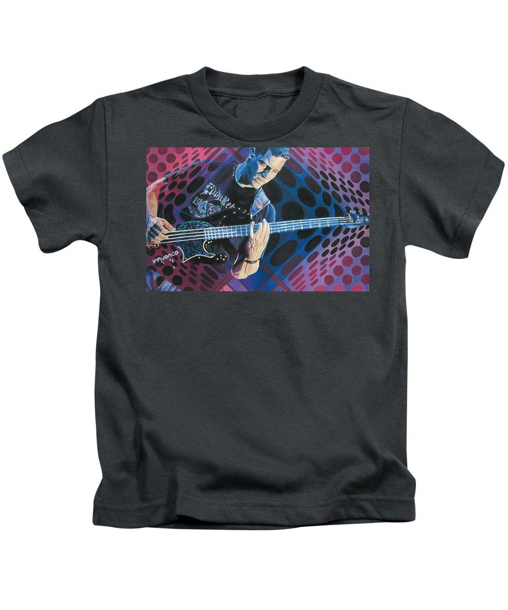 Stefan Lessard Kids T-Shirt featuring the drawing Stefan Lessard Pop-op Series by Joshua Morton
