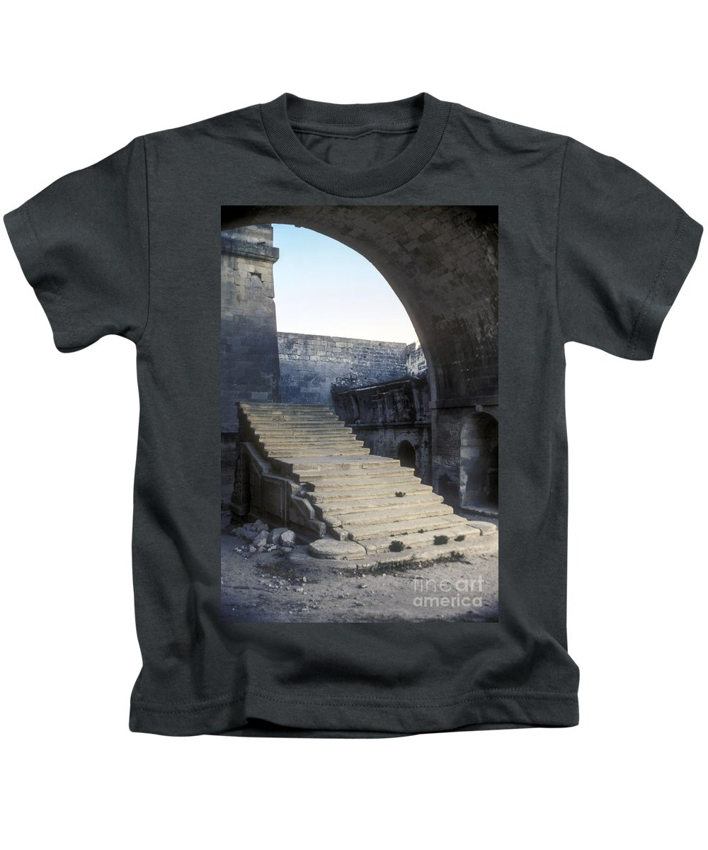 Montmajor France Step Steps Ruin Ruins Monastery Monasteries Kids T-Shirt featuring the photograph Steps To Paradise by Bob Phillips