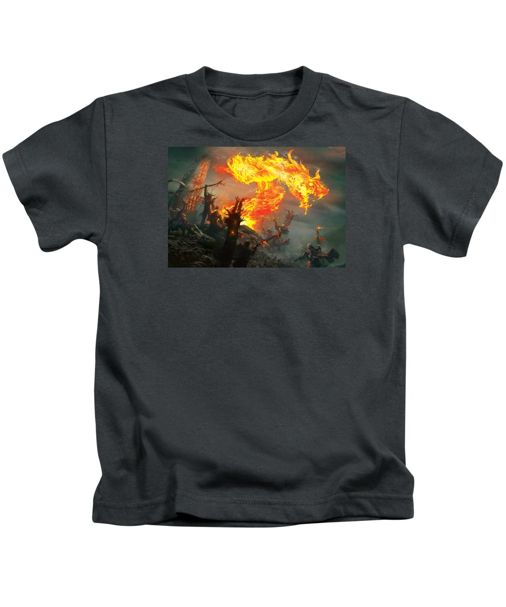 Mtg Kids T-Shirt featuring the digital art Stoke The Flames by Ryan Barger