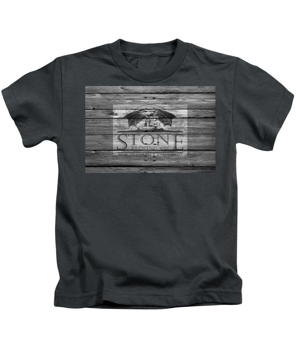Stone Brewing Kids T-Shirt featuring the photograph Stone Brewing by Joe Hamilton