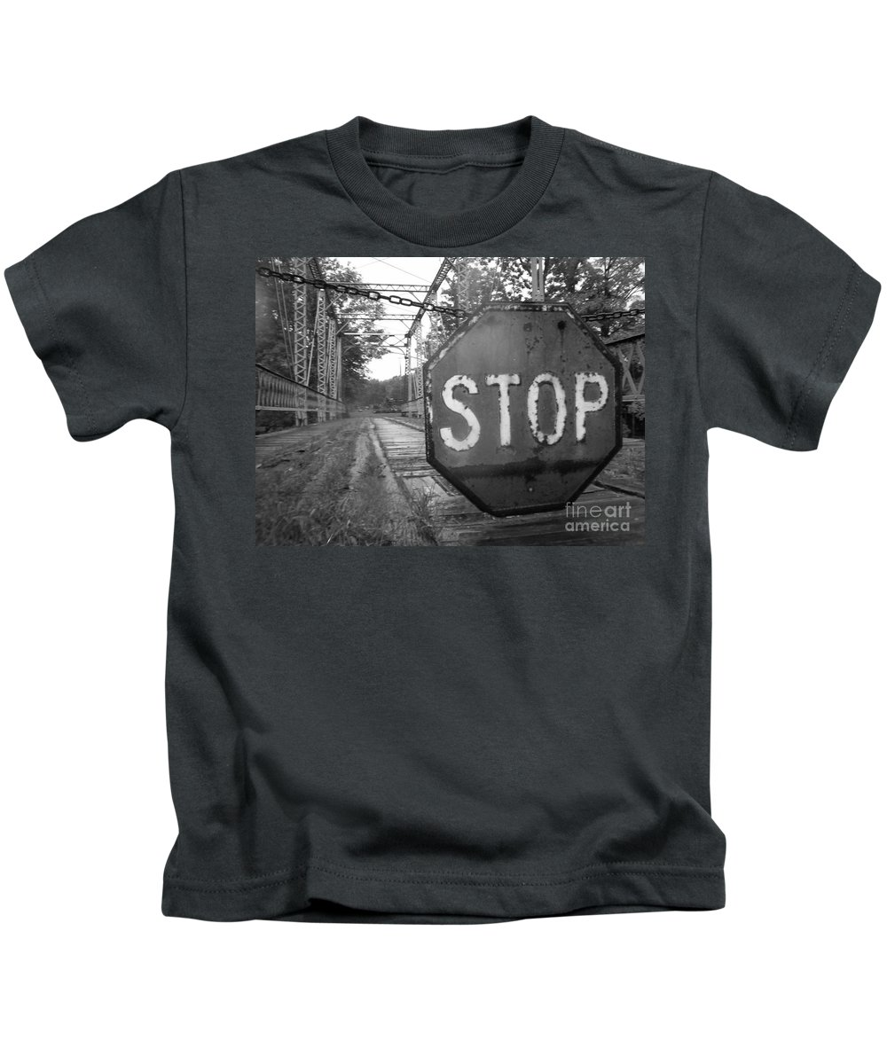Stop Sign Kids T-Shirt featuring the photograph Stop Sign by Michael Krek