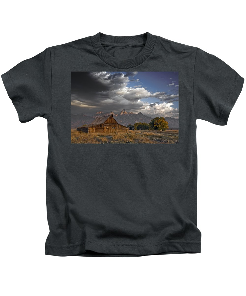 Storm Approaching Kids T-Shirt featuring the photograph Storm Approaching by Wes and Dotty Weber