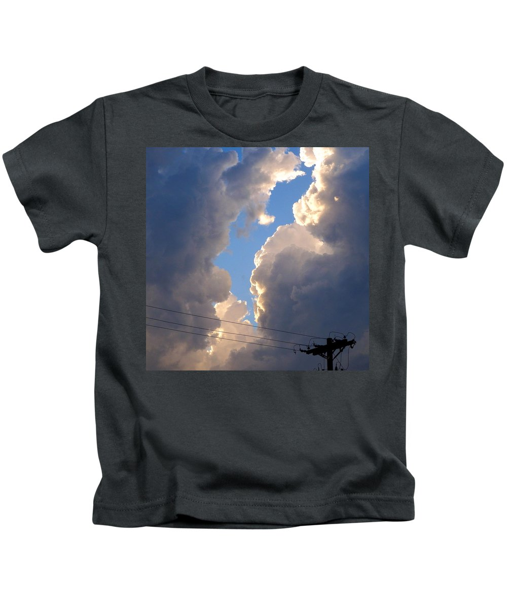 Storm Kids T-Shirt featuring the photograph Storm Clouds 4 by David G Paul