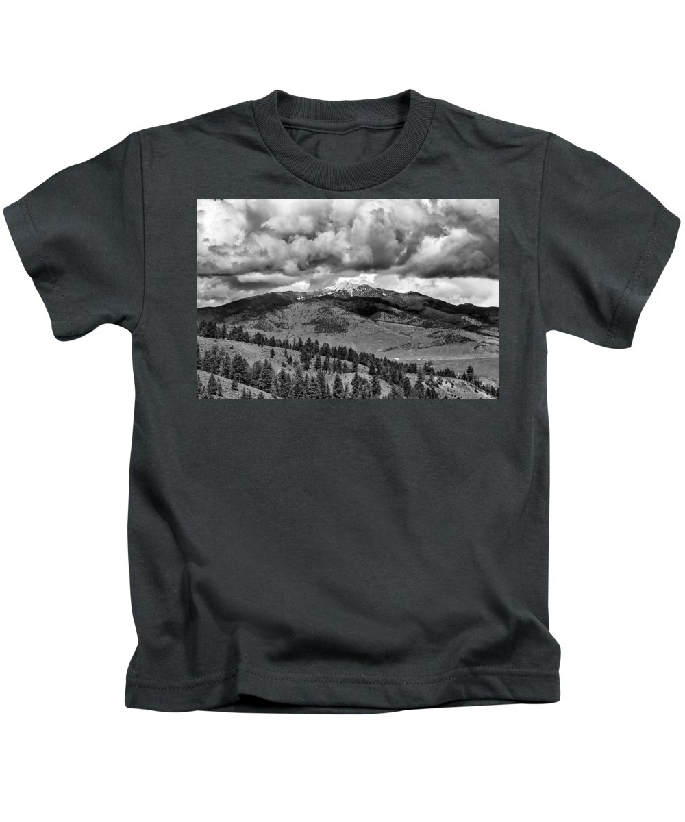 America Kids T-Shirt featuring the photograph Storm Clouds by Jack R Perry