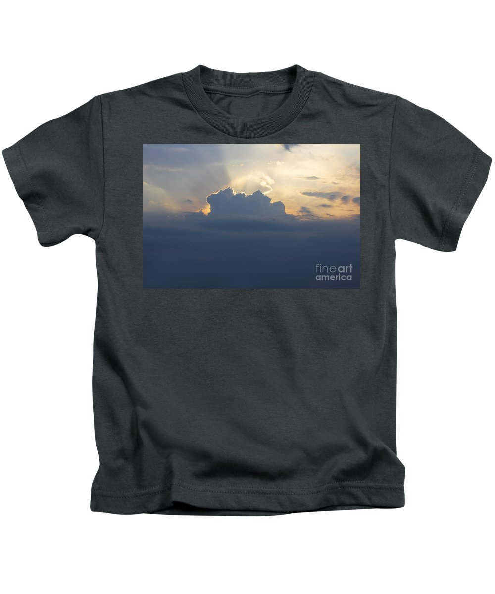 Landscape Kids T-Shirt featuring the photograph Storm Front Approaching by Barbara McMahon