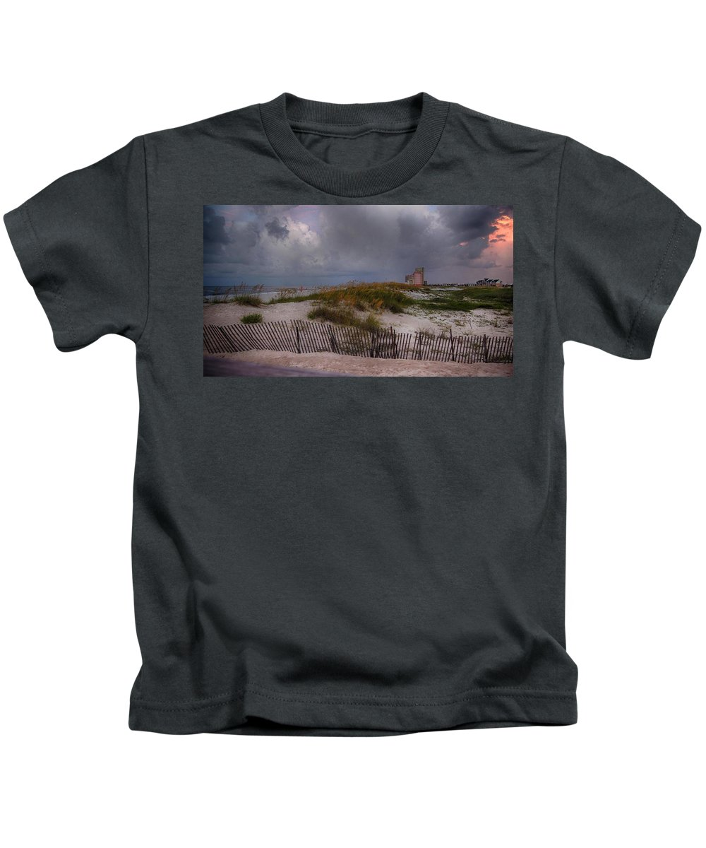 Palm Kids T-Shirt featuring the digital art Storm Over Gulf Shores by Michael Thomas