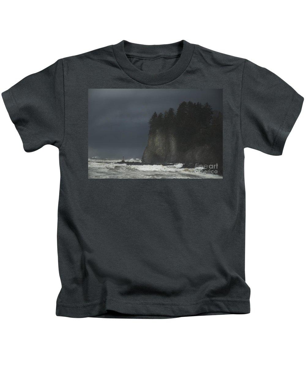 Storm Kids T-Shirt featuring the photograph Storm At Lapush Washington State by Yulia Kazansky