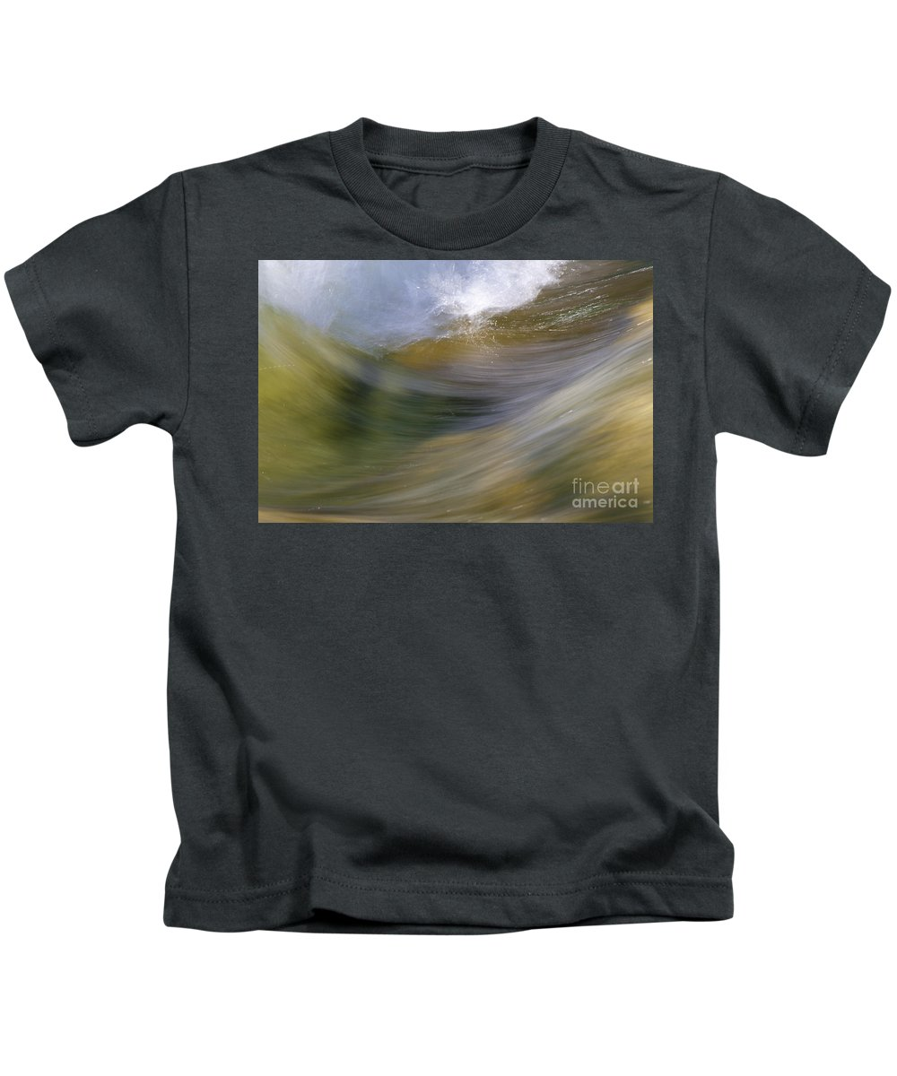 Heiko Kids T-Shirt featuring the photograph Streaming Water 2 by Heiko Koehrer-Wagner