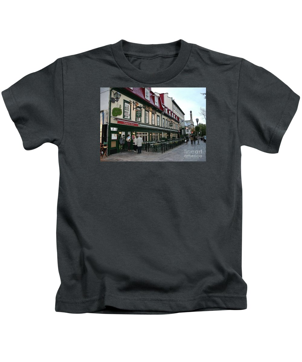 Street Kids T-Shirt featuring the photograph Street In Quebec by Christiane Schulze Art And Photography