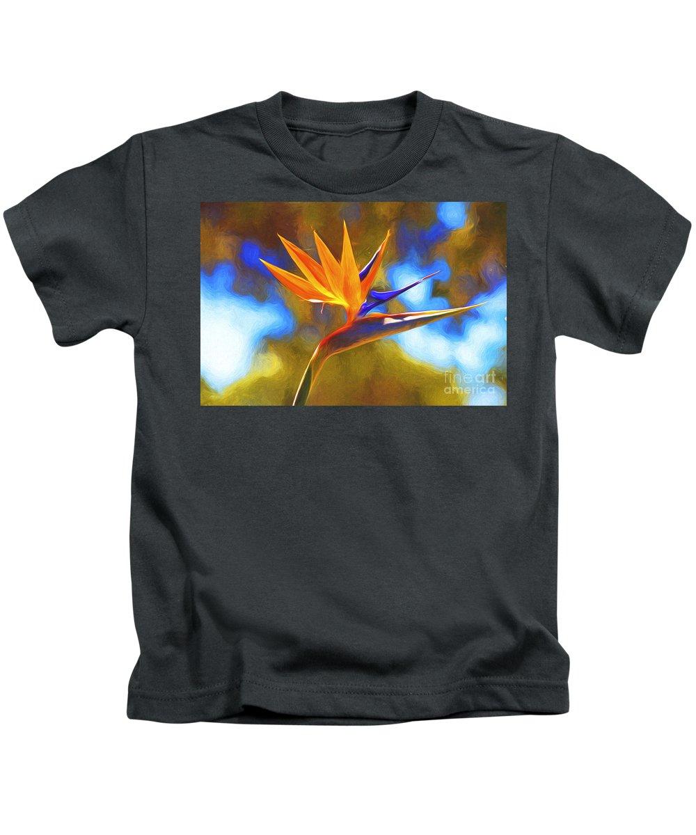 Strelitzia Kids T-Shirt featuring the photograph Strelitzia by Sheila Smart Fine Art Photography