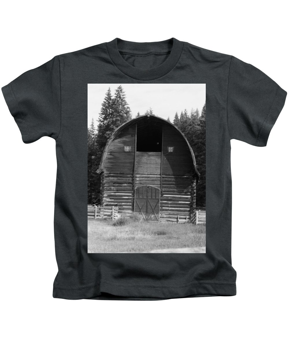 Old Barn Kids T-Shirt featuring the photograph Sturdy Old Barn by Mike Wheeler