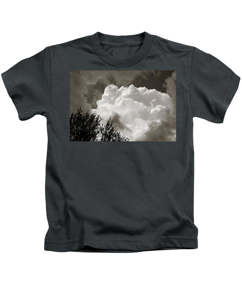 Cloud Kids T-Shirt featuring the photograph Summer Afternoon Cloudscape by Charles Owens