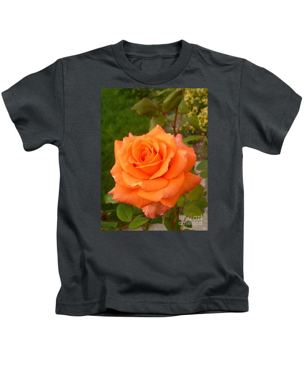 Flower Kids T-Shirt featuring the photograph Sun Kiss Orange by Lingfai Leung
