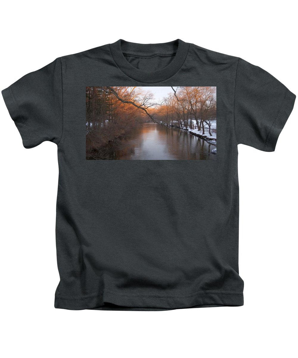 Yellow Breeches Kids T-Shirt featuring the photograph Sundown On The Breeches by Rob Luzier