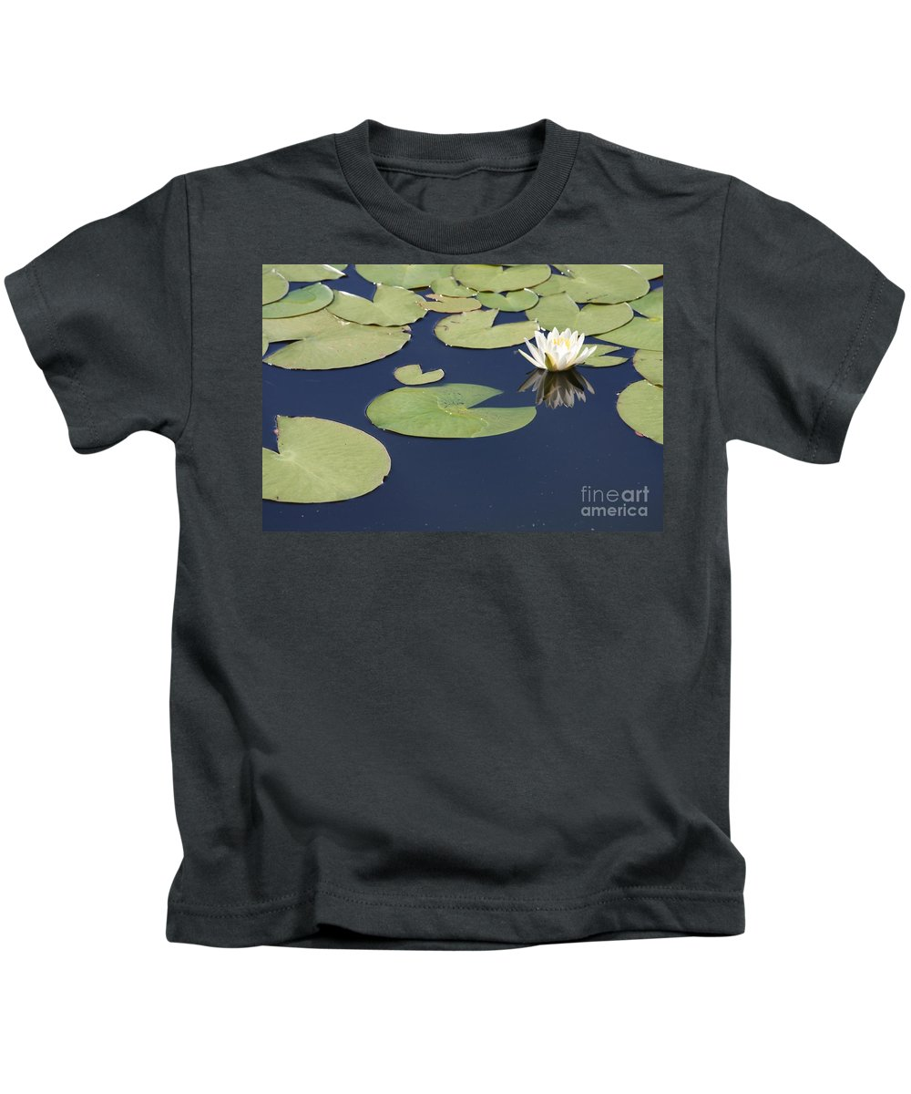 Lily Pond Kids T-Shirt featuring the photograph Sunny Lily Pond by Carol Groenen
