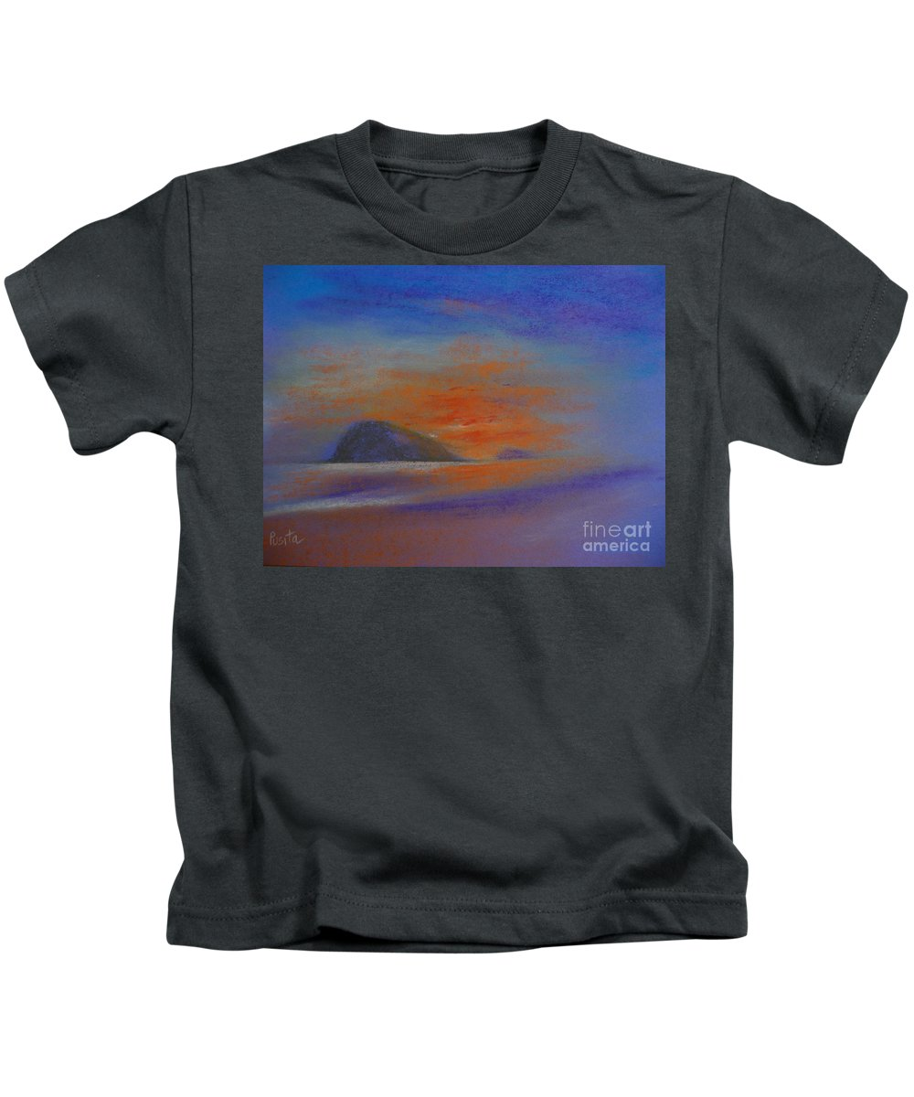 Seascape Kids T-Shirt featuring the painting Sunrise by Pusita Gibbs