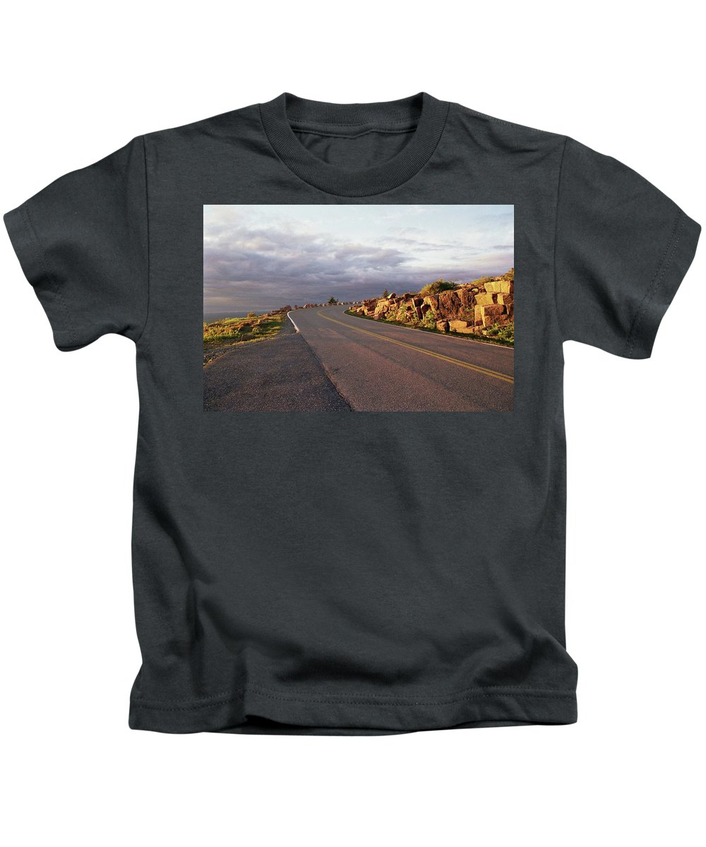 Sunset Kids T-Shirt featuring the photograph Sunset In Acadia by Allen Beatty