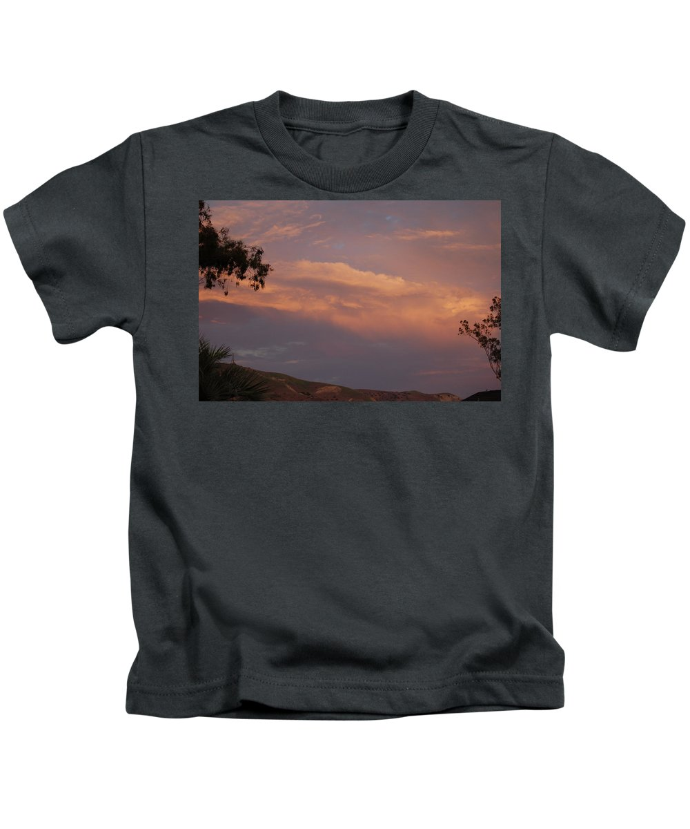 Linda Brody Kids T-Shirt featuring the photograph Sunset Landscape V by Linda Brody