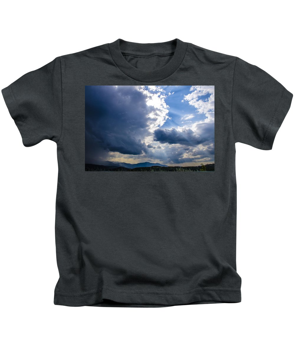 Sky Kids T-Shirt featuring the photograph Sunshines In Blackness by Sotiris Filippou