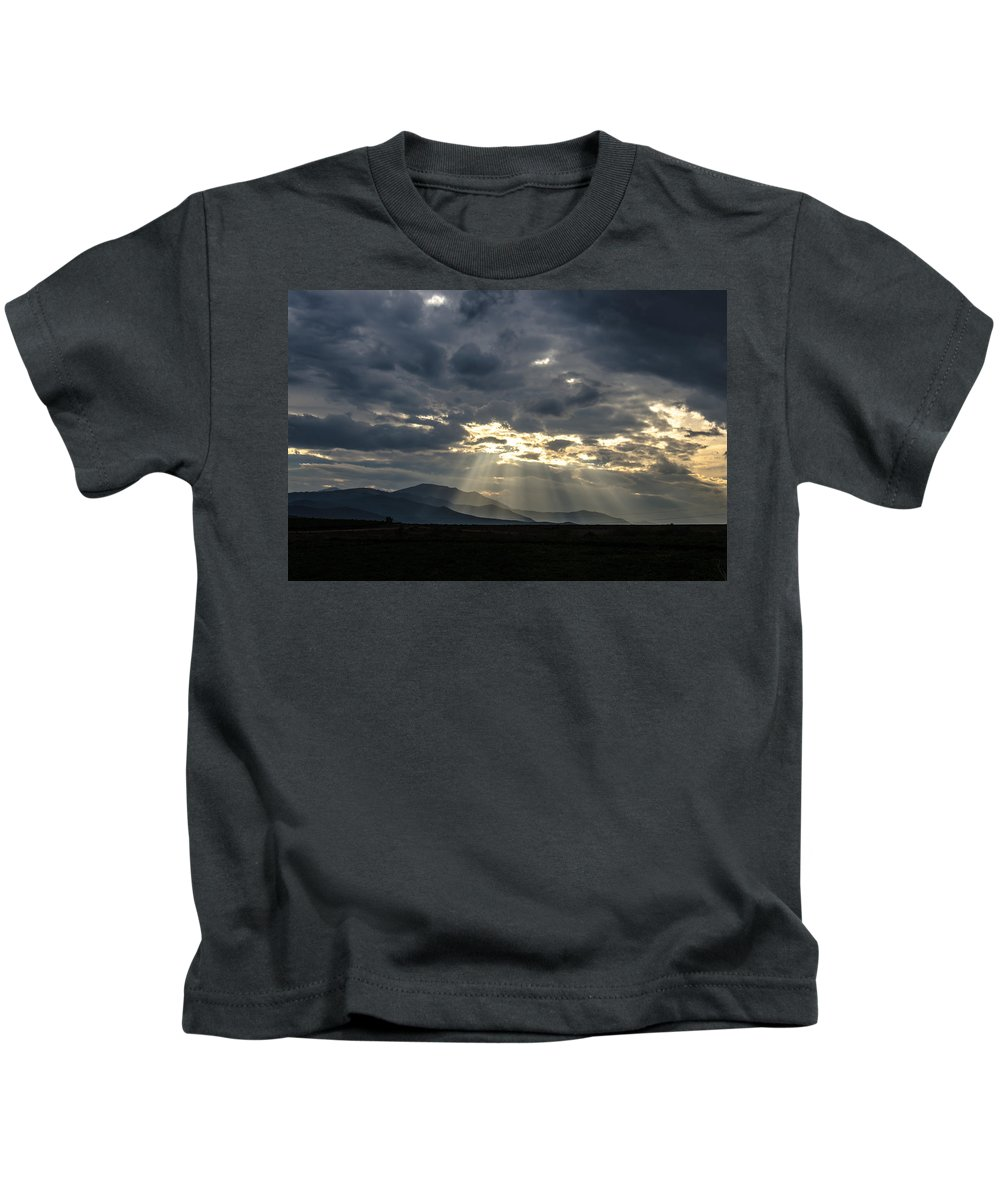 Spring Kids T-Shirt featuring the photograph Sunshines by Sotiris Filippou
