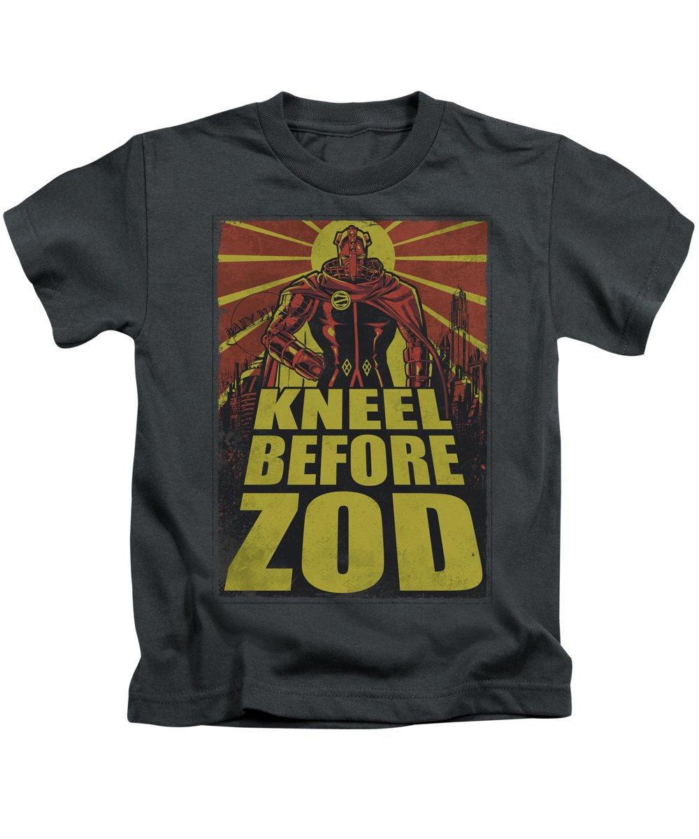 Superman Kids T-Shirt featuring the digital art Superman - Zod Poster by Brand A