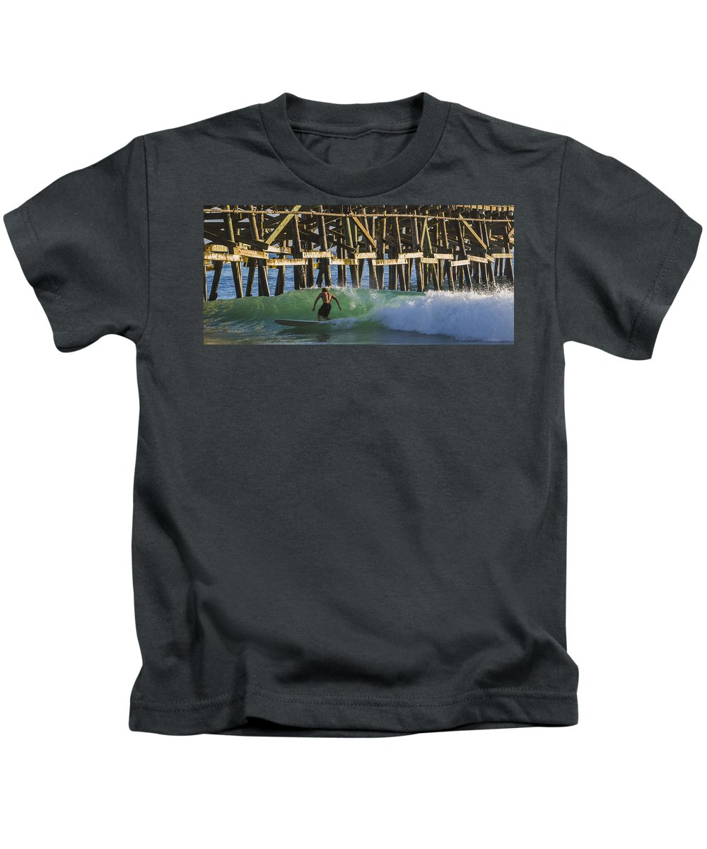 Surfer Kids T-Shirt featuring the photograph Surfer Dude 2 by Scott Campbell