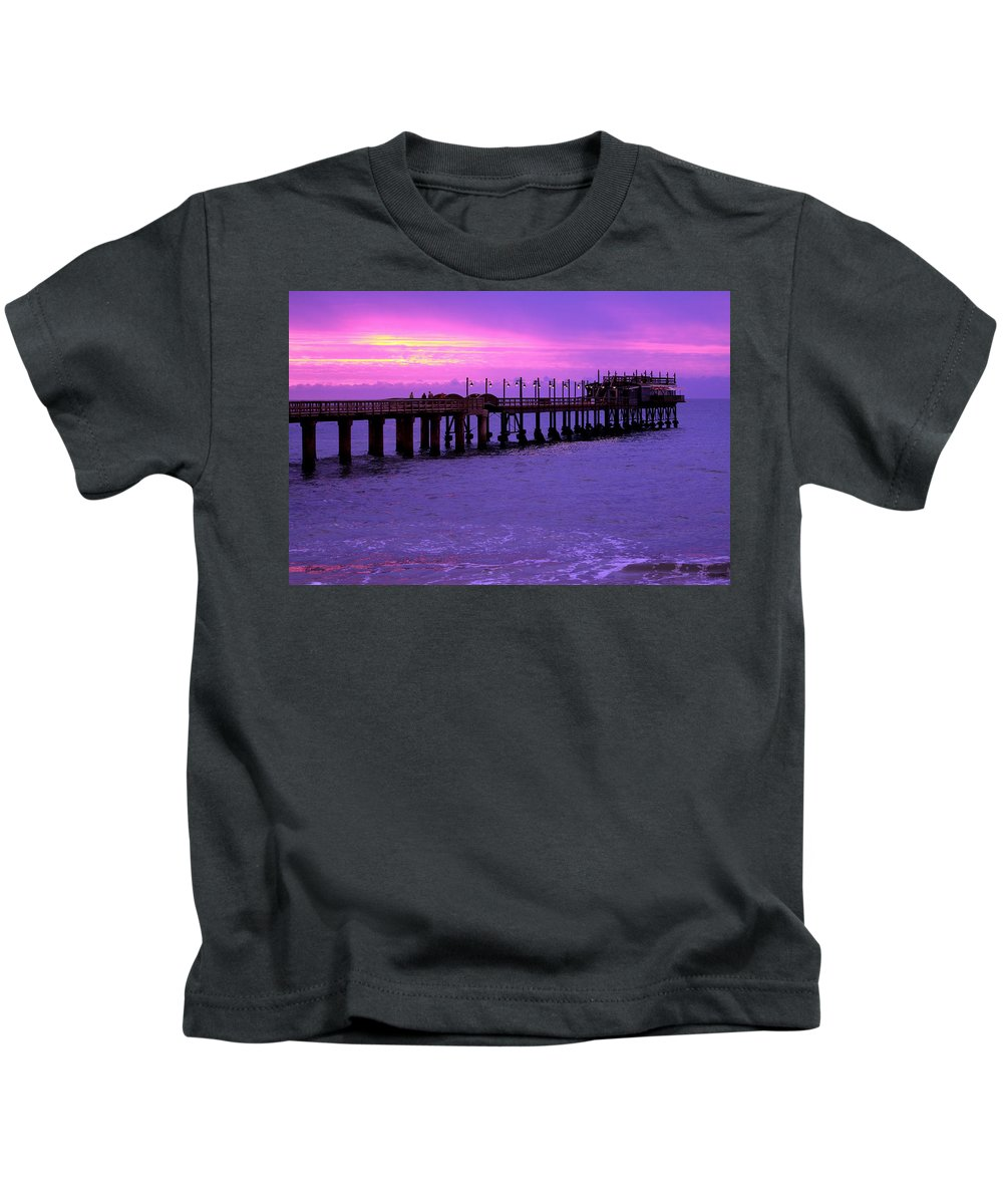 Africa Kids T-Shirt featuring the photograph Swakopmund Pier - Namibia by Aidan Moran