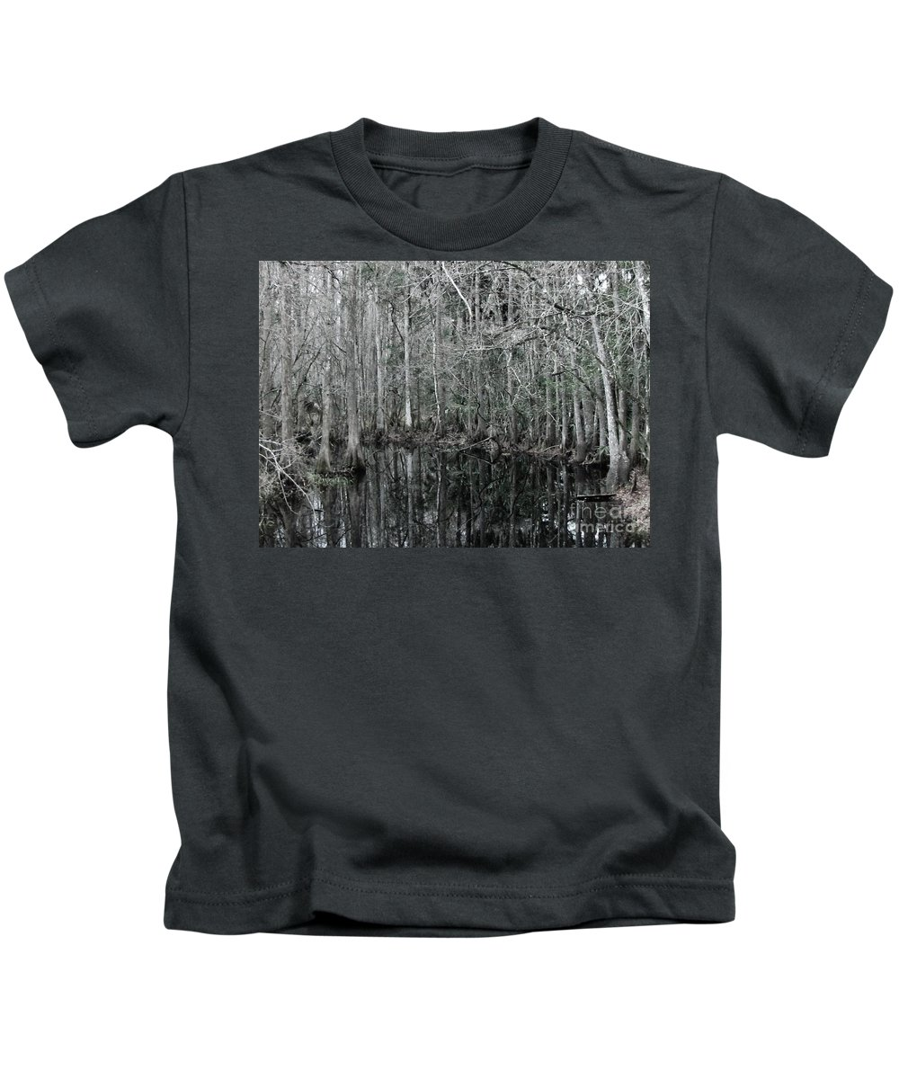 Keri West Kids T-Shirt featuring the photograph Swamp Greens by Keri West