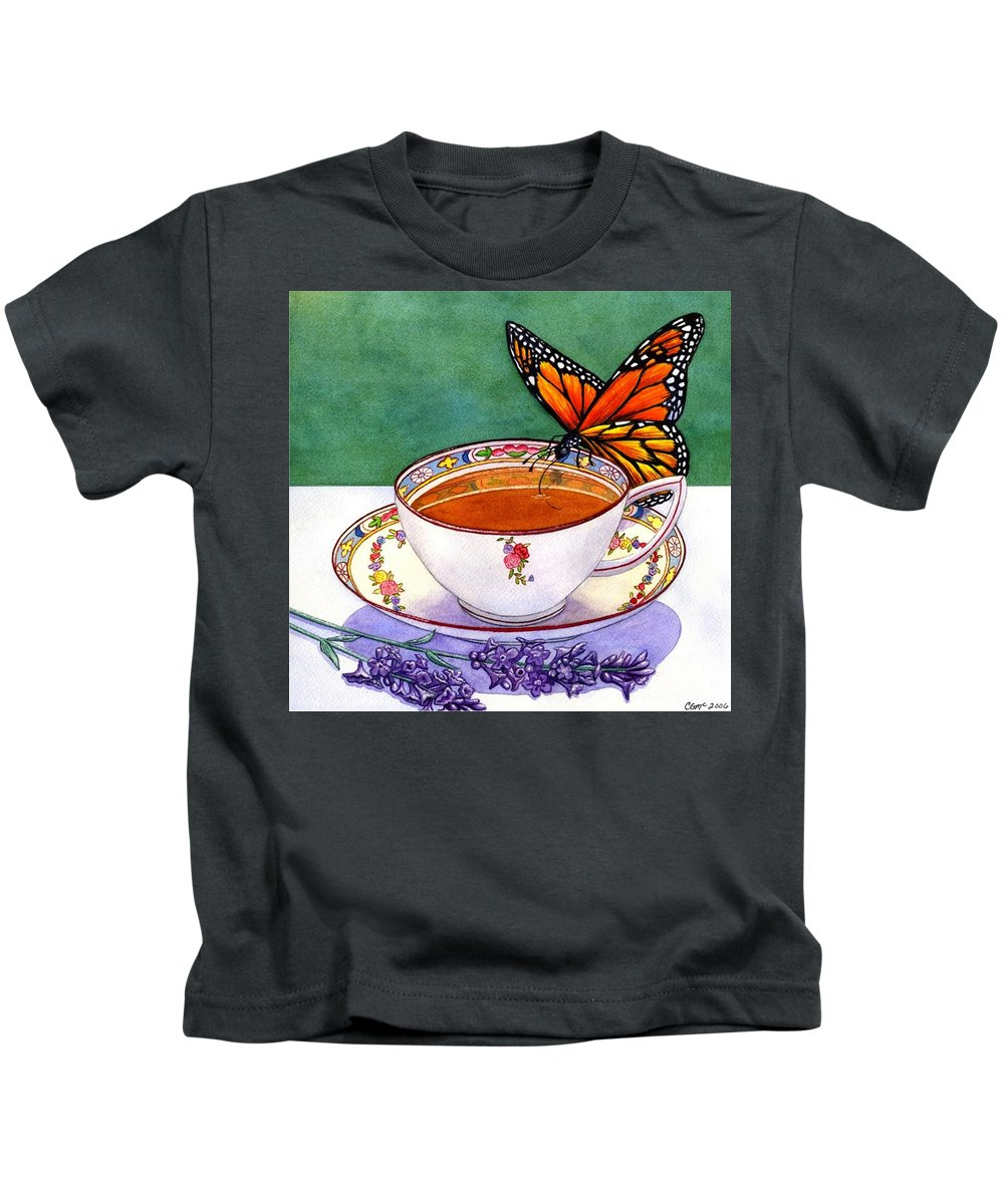 Butterfly Kids T-Shirt featuring the painting Sweet by Catherine G McElroy