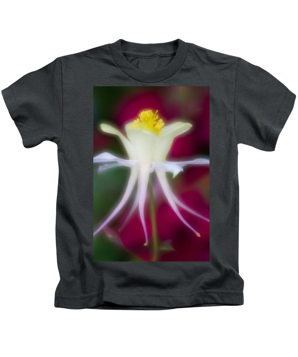 Blue Flower Kids T-Shirt featuring the photograph Tadpole Flower by Greg Nyquist