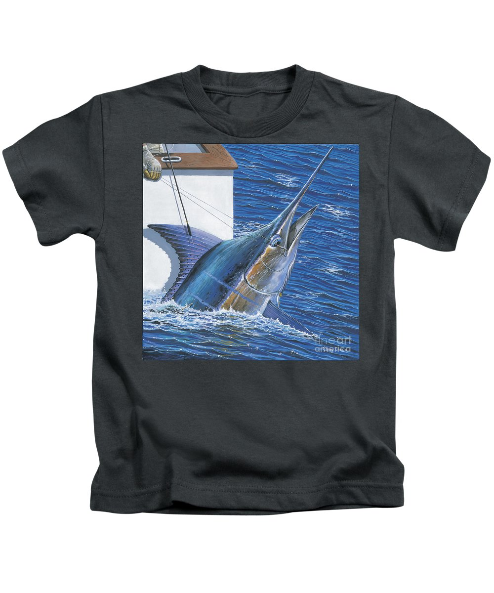 Marlin Kids T-Shirt featuring the painting Tagged Off00105 by Carey Chen