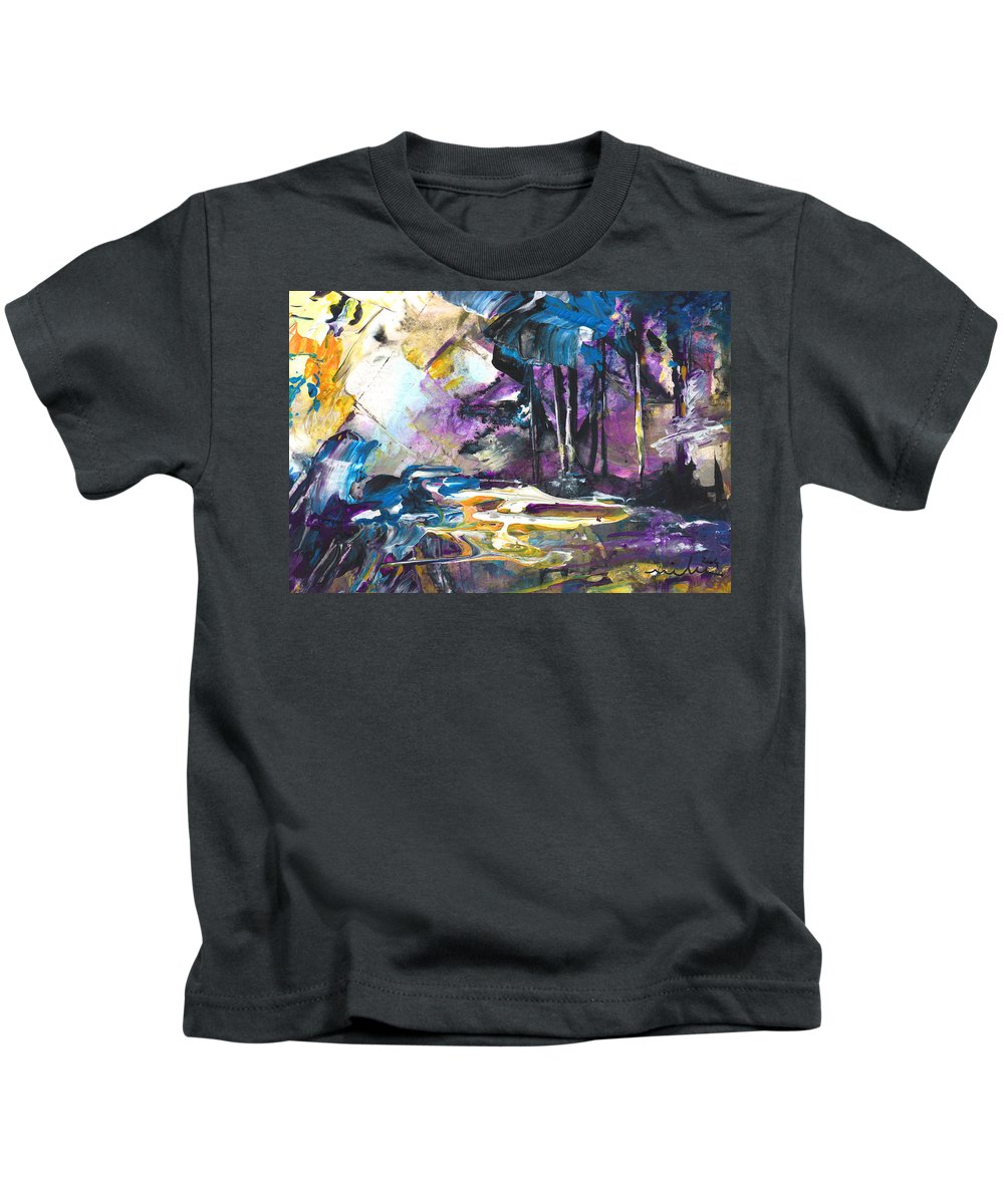 Abstract Kids T-Shirt featuring the painting Taken by Miki De Goodaboom