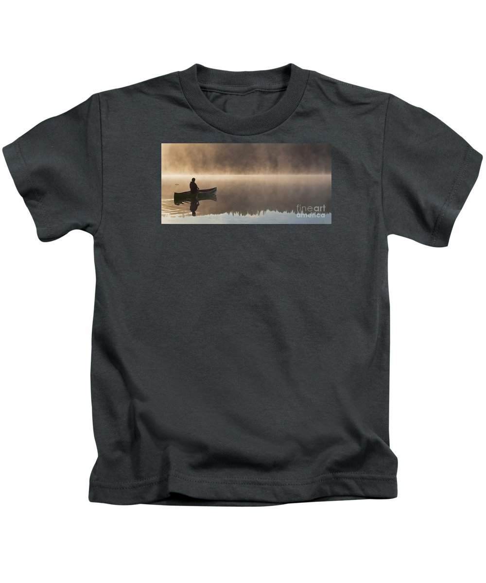 Canoeist Kids T-Shirt featuring the photograph Taking It All In by Barbara McMahon