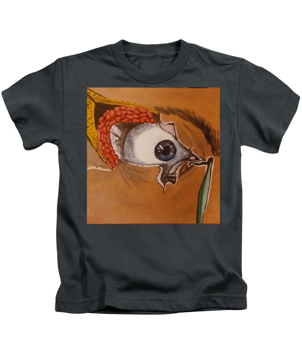 Inside Tear Duct Kids T-Shirt featuring the painting Tear Duct by Joan Stratton