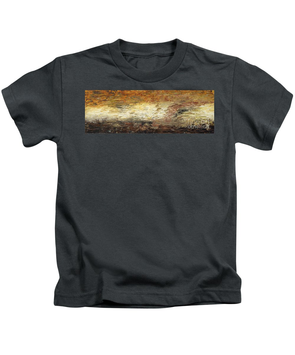 Terra Kids T-Shirt featuring the painting Terra by Nadine Rippelmeyer