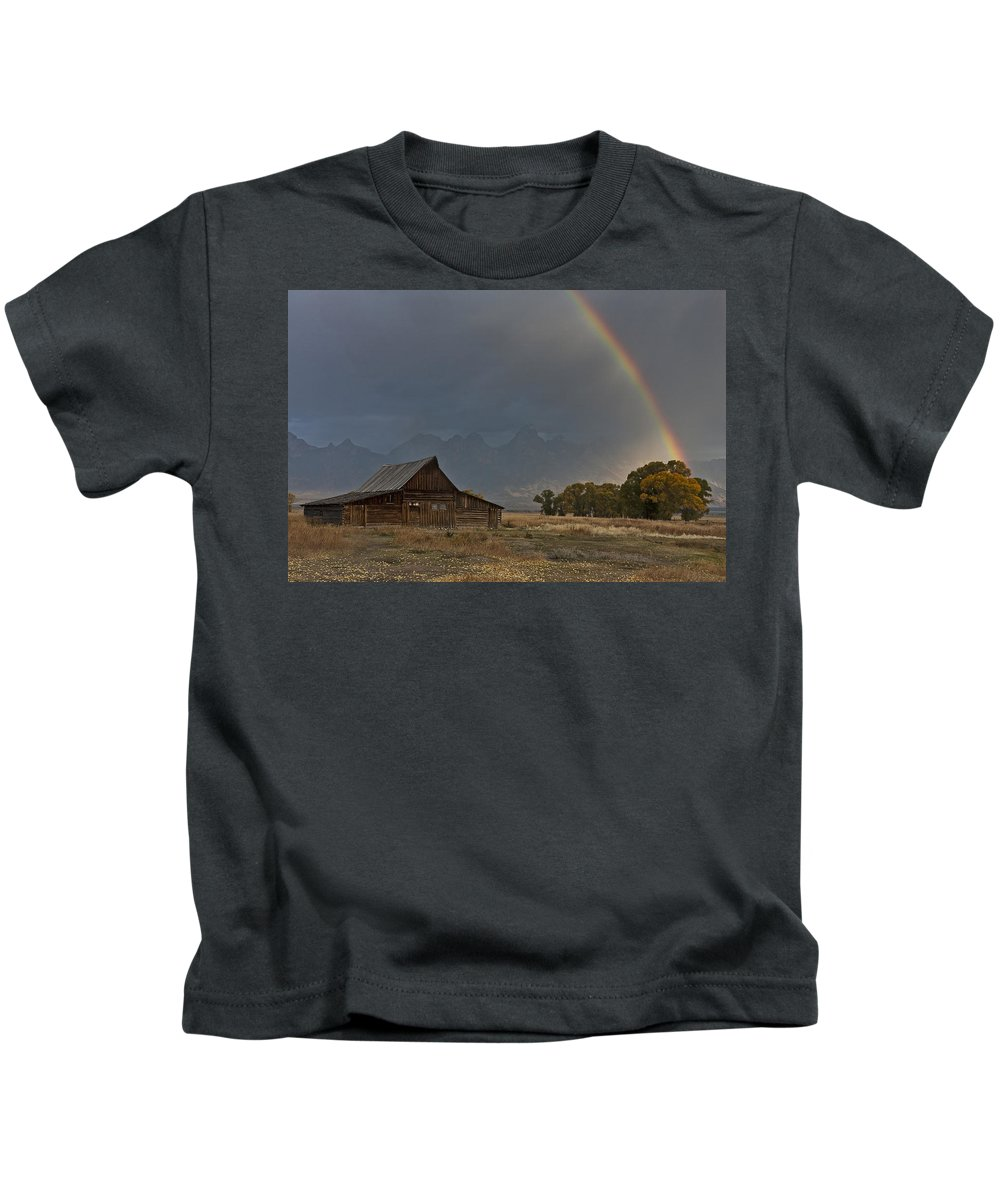Teton's Pot Of Gold Kids T-Shirt featuring the photograph Teton's Pot Of Gold by Wes and Dotty Weber