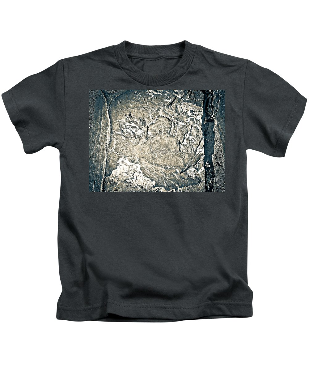 Abstract Kids T-Shirt featuring the photograph Texture No.2 Effect 3 by Fei A