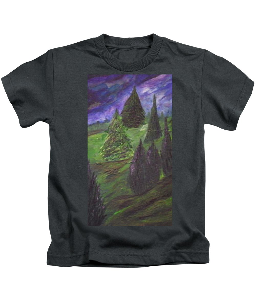 Landscape Kids T-Shirt featuring the painting The Calm by Soraya Silvestri