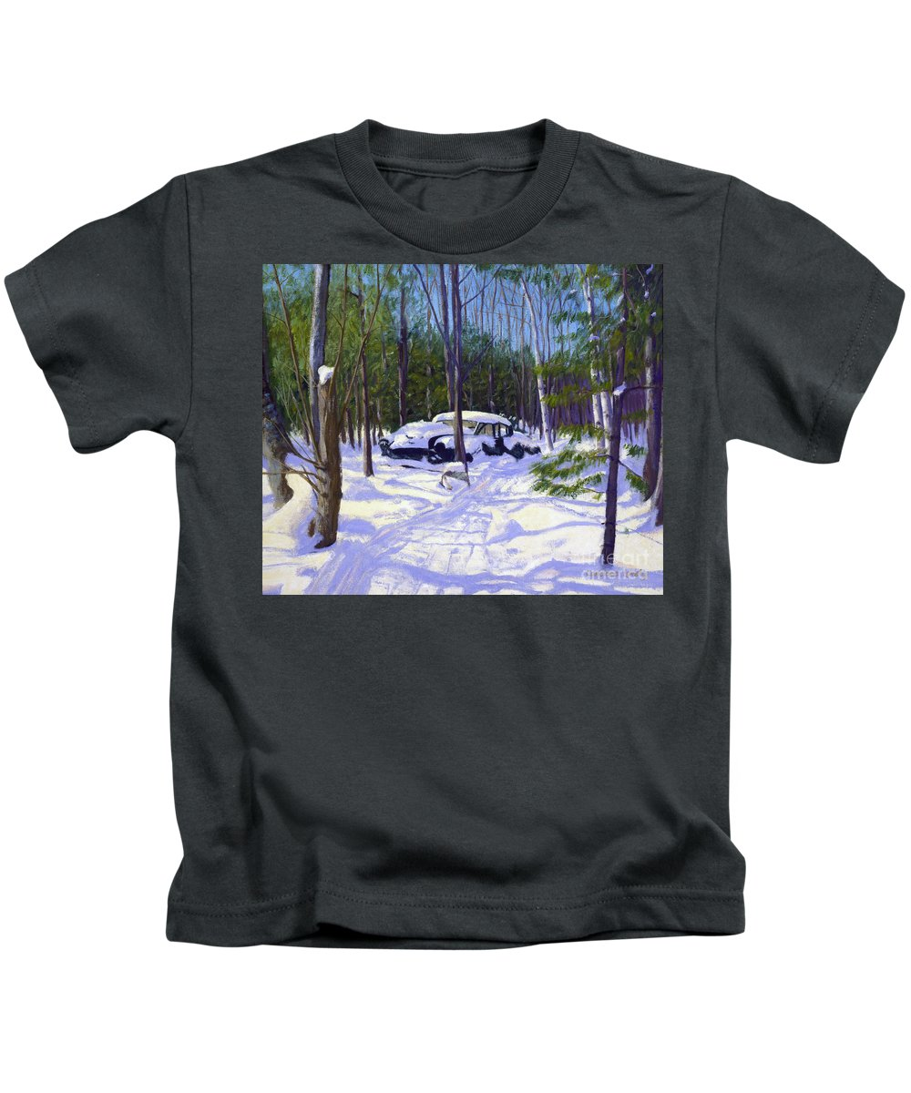 Kennebunkport Kids T-Shirt featuring the painting The Car by Candace Lovely