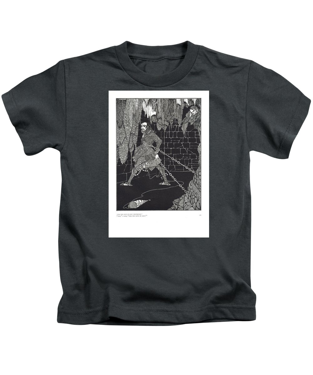 Harry Kids T-Shirt featuring the drawing The Cask Of Amontillado by Harry Clarke