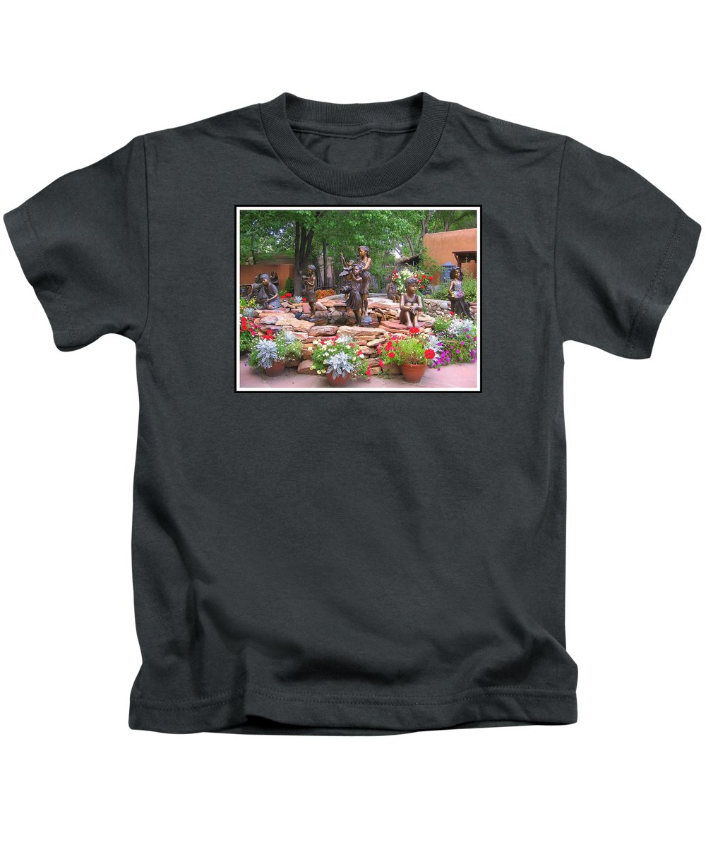 New Mexico Kids T-Shirt featuring the photograph The Children Sculpture Garden - Santa Fe by Dora Sofia Caputo Photographic Design and Fine Art