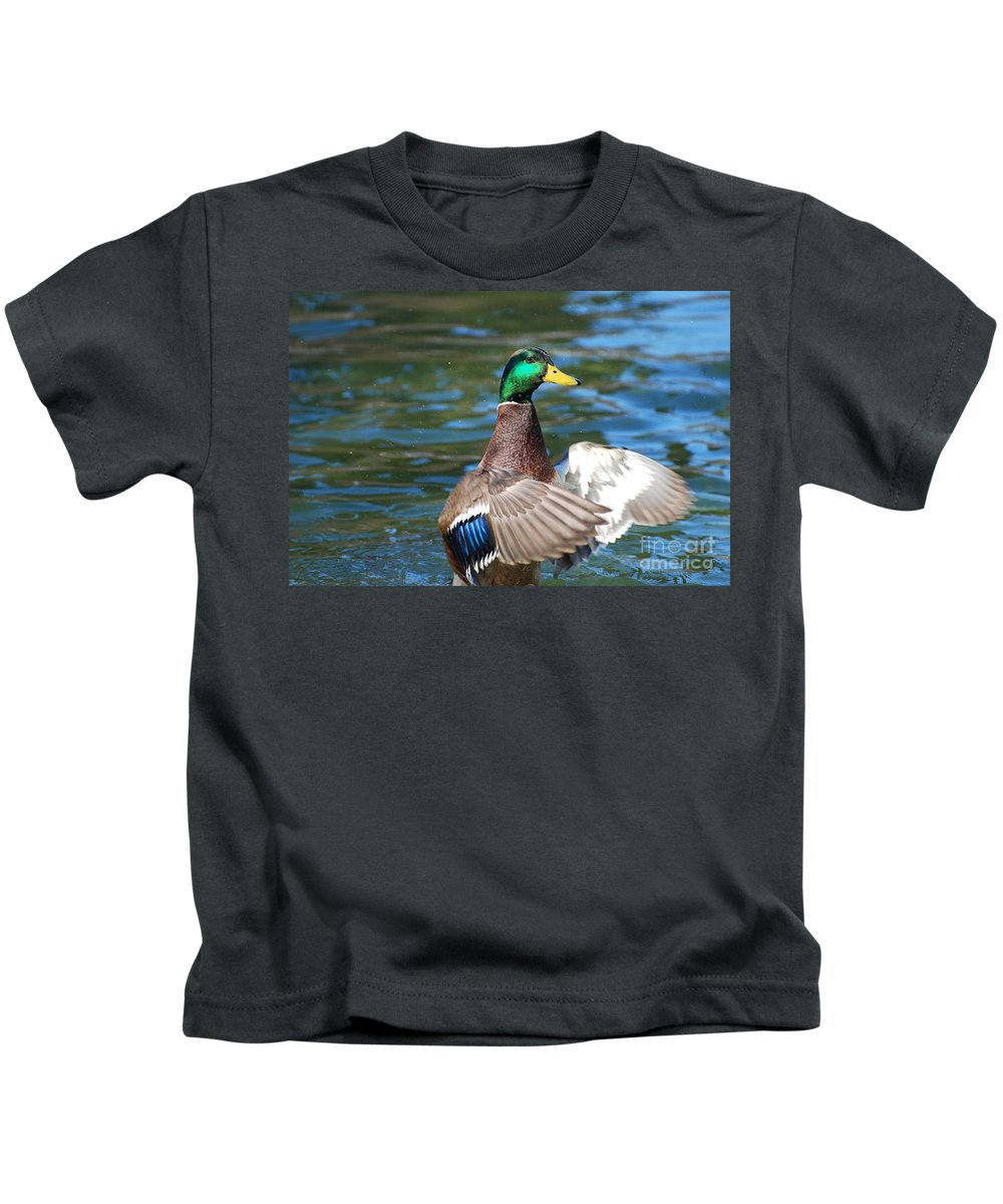 Green Head Kids T-Shirt featuring the photograph The Conductor by Todd Hostetter