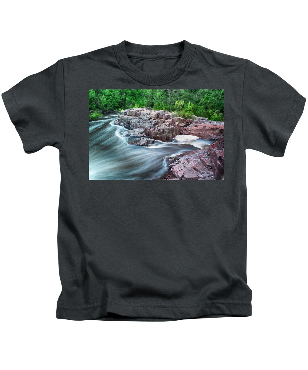 Wisconsin Kids T-Shirt featuring the photograph The Dells Of The Eau Claire River by Jonah Anderson