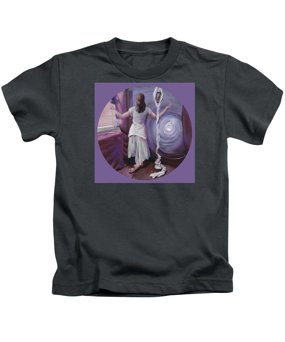 Shelley Irish Kids T-Shirt featuring the painting The Devotee by Shelley Irish