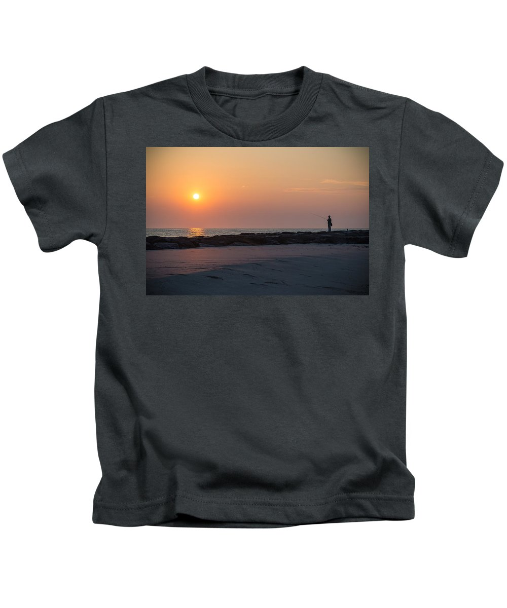 New Jersey Kids T-Shirt featuring the photograph The Early Shift by Kristopher Schoenleber